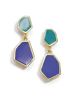 Janna Conner - Two Tiered Enamel Earrings