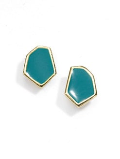 Janna Conner - Enamel Stud Earrings