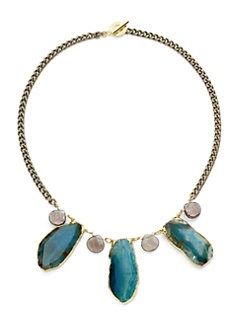 Janna Conner - Agate & Quartz Necklace