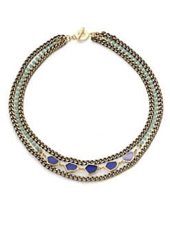 Janna Conner - Inset Crystal & Enamel Necklace