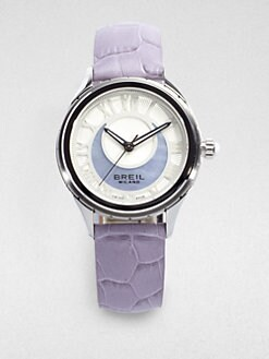 Breil - Stainless Steel & Perforated Leather Watch