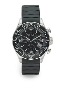 Breil - Manta Stainless Steel & Rubber Chronograph Watch
