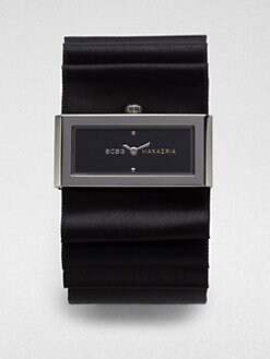 BCBGMAXAZRIA - Stainless Steel Subdial Watch/Black