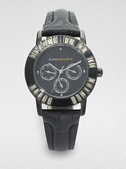 BCBGMAXAZRIA - Satin Ribbon Stainless Steel Watch