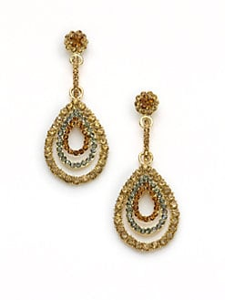 Leslie Danzis - Triple Teardrop Earrings/Gold