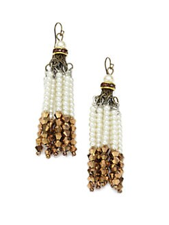 Leslie Danzis - Beaded Tassel Earrings
