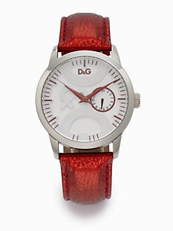 D&G - Stainless Steel & Metallic Leather Watch