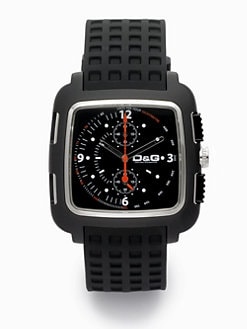D&G - Stainless Steel & Grid Strap Watch