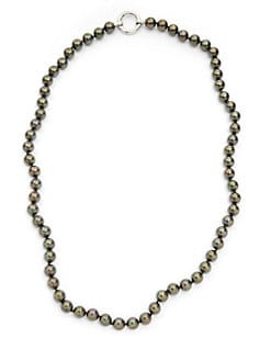 Giorgio Martello - Faux Tahitian Pearl Long Necklace