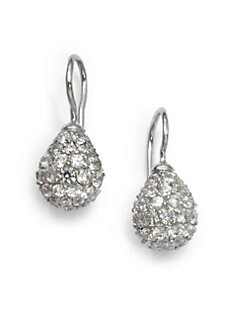Giorgio Martello - Cubic Zirconia Teardrop Earrings