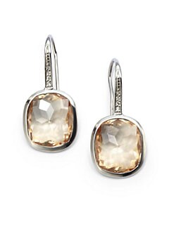 Giorgio Martello - Citrine Cubic Zirconia Stone Earrings