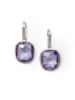 Giorgio Martello - Purple Cubic Zirconia Stone Earrings