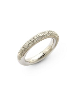 Giorgio Martello - Cubic Zirconia Sterling Silver Stackable Ring