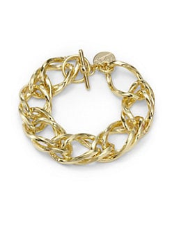 1AR by UNOAERRE - Angled Twisted Rope Double Link Bracelet
