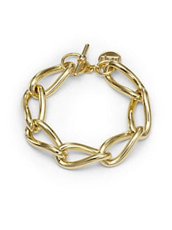 1AR by UNOAERRE - Twisted Anchor Link Bracelet/Goldplated