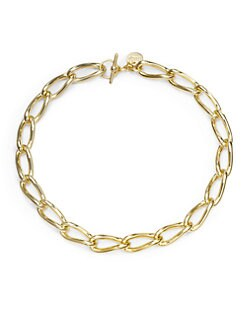 1AR by UNOAERRE - Twisted Anchor Link Necklace/Goldplated