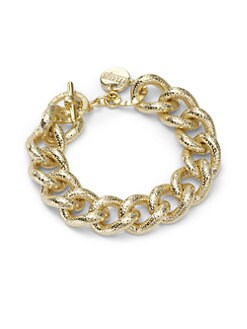 1AR by UNOAERRE - Textured Twisted Link Bracelet
