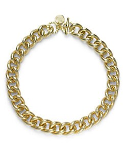 1AR by UNOAERRE - Textured Twisted Link Necklace