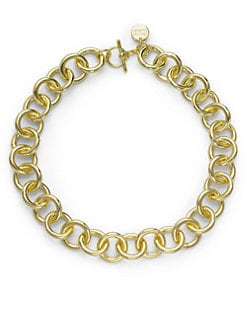 1AR by UNOAERRE - Circle Link Necklace/Yellow Goldplated