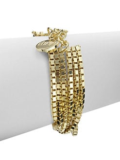 1AR by UNOAERRE - Layered Box Chain Bracelet
