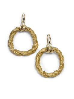 1AR by UNOAERRE - Mesh Drop Hoop Earrings