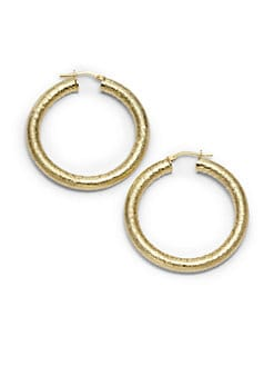 1AR by UNOAERRE - Venetian Textured Hoop Earrings