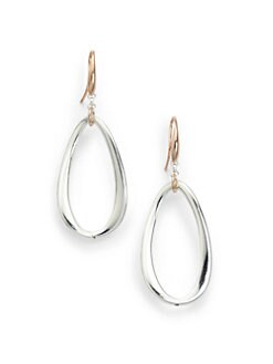 1AR by UNOAERRE - Twisted Oval Drop Earrings