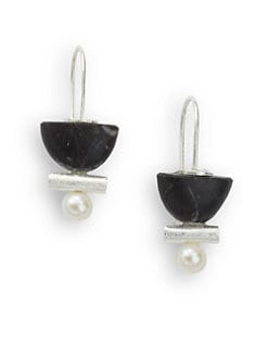 Rena Luxx - Pearl & Stone Drop Earrings