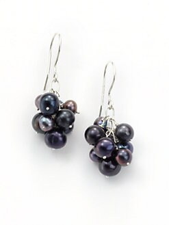 Rena Luxx - Pearl Cluster Drop Earrings