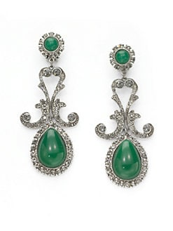 Ben Amun - Teardrop Chandelier Clip-On Earrings