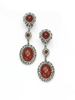 Ben Amun - Oval Tiered Clip-On Earrings