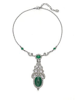 Ben Amun - Ornate Oval Pendant Necklace