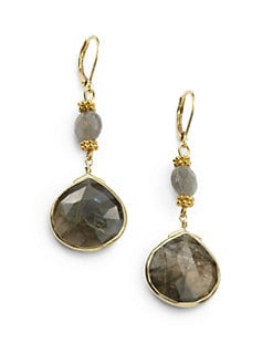 Rachel Reinhardt - Labradorite Bezel Drop Earrings