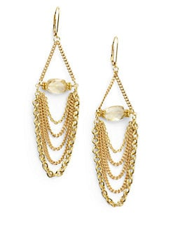 Rachel Reinhardt - Citrine Chain Drop Earrings