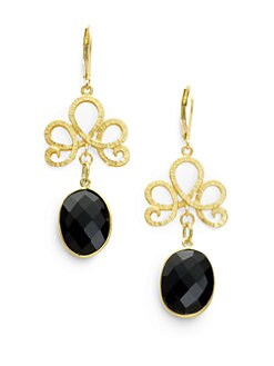 Rachel Reinhardt - Black Onyx Swirl Drop Earrings