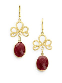 Rachel Reinhardt - Ruby Swirl Drop Earrings