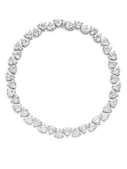 CZ by Kenneth Jay Lane - Trillion-Cut Riviere Necklace