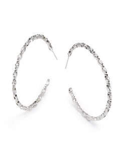 CZ by Kenneth Jay Lane - Marquis Crystal Hoop Earrings