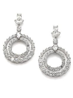 CZ by Kenneth Jay Lane - Bull's Eye Crystal Earrings