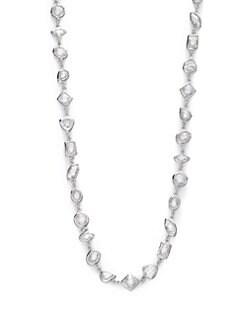 CZ by Kenneth Jay Lane - Geometric Double-Wrap Necklace