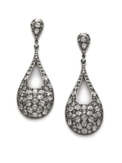 CZ by Kenneth Jay Lane - Cluster Cutout Teardrop Earrings