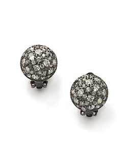 CZ by Kenneth Jay Lane - Cluster Clip-On Button Earrings