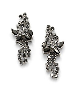 CZ by Kenneth Jay Lane - Cluster Column Earrings