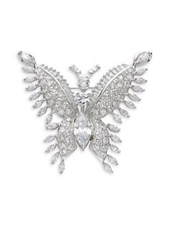 CZ by Kenneth Jay Lane - Butterfly Crystal Brooch