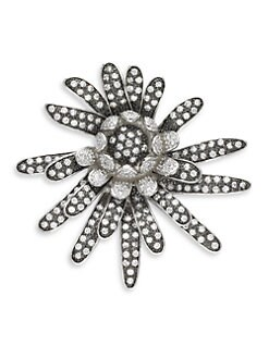 CZ by Kenneth Jay Lane - Pave Flower Spray Pin