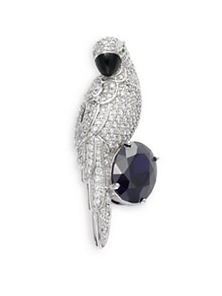 CZ by Kenneth Jay Lane - Pave Parrot Pin