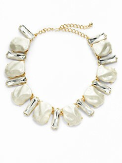Kenneth Jay Lane - Crystal & Faux Pearl Necklace