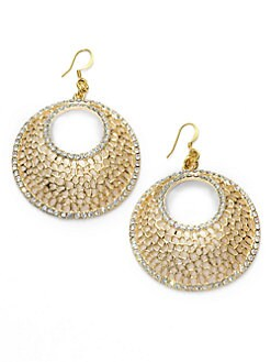 Kenneth Jay Lane - Open Circle Crystal Earrings