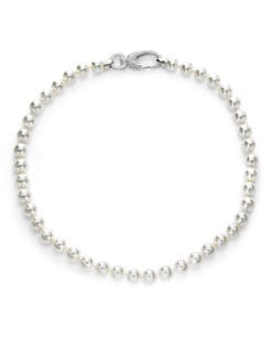 CZ by Kenneth Jay Lane - 12MM Freshwater White Pearl Necklace/24