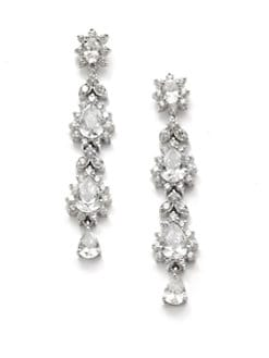 CZ by Kenneth Jay Lane - Quad Pear Crystal Earrings